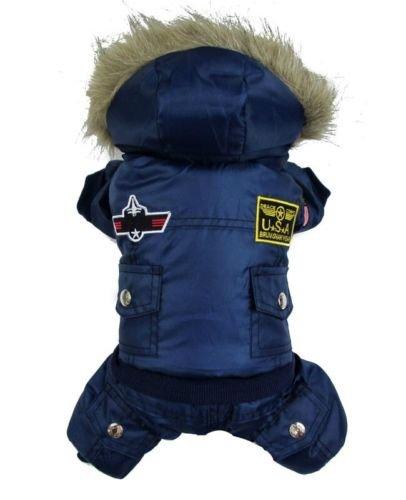 Artikelbild: Vlunt Hund warm winter Hund-Mantel-Jacke USA AIR FORCE Wasserdicht pet hoody Kleidung fuer kleine Hund