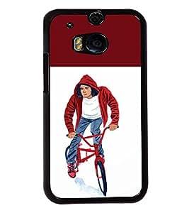 Printvisa 2D Printed Boy Designer back case cover for HTC One M8 - D4314