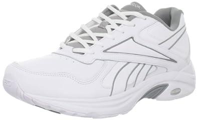 Reebok Men's DMX Max Mania Walking Shoe,White/Flat Grey/Tin Grey,8 M US