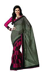 arthenterprise new Pink and black Bhaglapuri saree