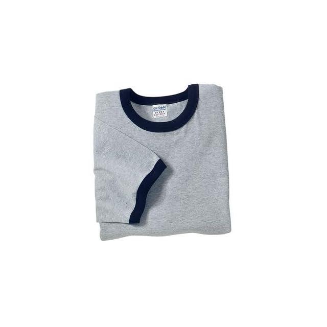 Gildan Ultra Cotton   Ringer T Shirt Sport Grey XL