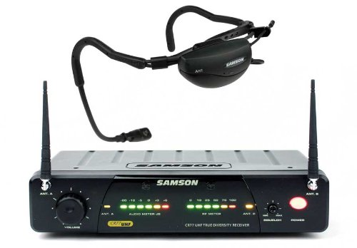 Samson Airline 77 Headset True Diversity Uhf Wireless System With Fitness Microphone (Channel N4)