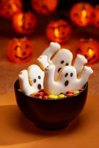 Halloween Cookies in Bowl of Candy - 24