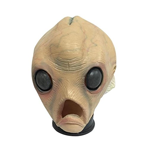 Halloween Mask , Novelty Deluxe Latex Alien Mask Costume Party (Giraffe Deluxe Latex Mask)