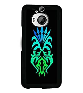 Fuson Premium Colorful Tattoo Metal Printed with Hard Plastic Back Case Cover for HTC One M9 Plus / HTC One M9+