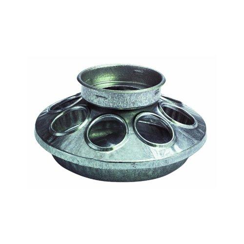 Manufacturing 9810 round jar galvanized feeder base for birds 1 quart