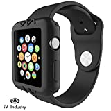 iv Industry Resilient Shock Proof Ultra Slim Protective Bump Black Case Cover Compatible with Apple Watch 42mm Series 3 Series 2 & Series 1 (Color: Black, Tamaño: 42 mm)