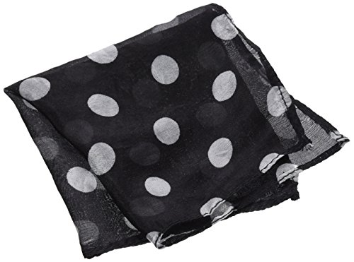 "MMS Spotted Silk 09"" Black with White Spots by Uday"