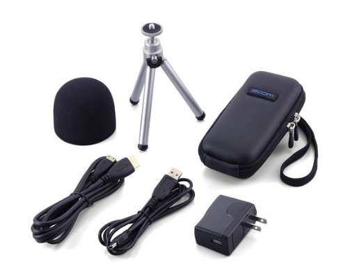 Samson Technologies Q2HDAP Zoom Accessory Pack for Q2HD - Soft Shell Case, Windscreen, AD-14 AC Adapter, HDMI Cable, USB cable and Tripod
