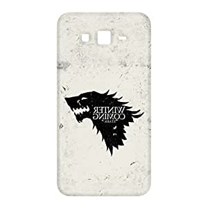 100 Degree Celsius Back Cover for Samsung Galaxy Grand Duos I9082 (Wolf Printed White)
