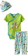 Zutano Baby-Girls Newborn Penny Owl Short Sleeve Onezie