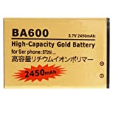 BA600 2450mAh High Capacity Gold Business Battery for Sony Xperia U / ST25i by Online-Enterprises