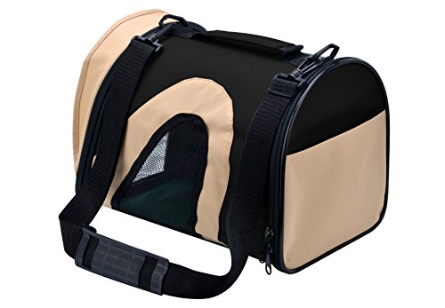 AWAMI Airline Approved Pet Carriers Soft-Sided Travel Portable Bag for Dogs Cats Puppies Black S – 14″L x 9″W x 10″H