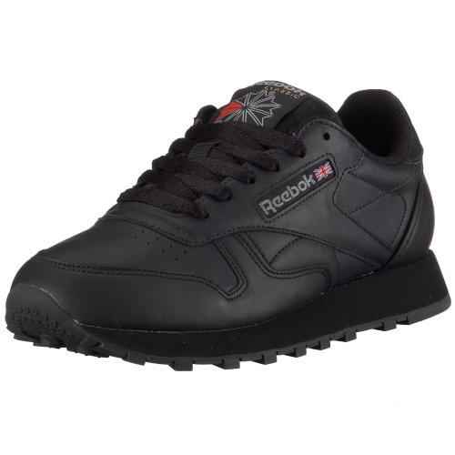 Reebok - Classic Leather, Scarpe Da Corsa unisex, Nero (Schwarz), 50