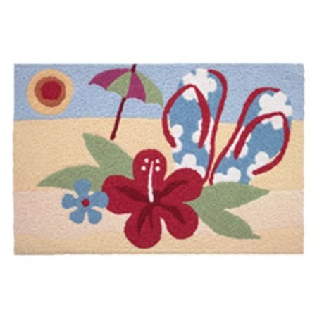 Jellybean-Rug-Beach-Hibiscus-Washable