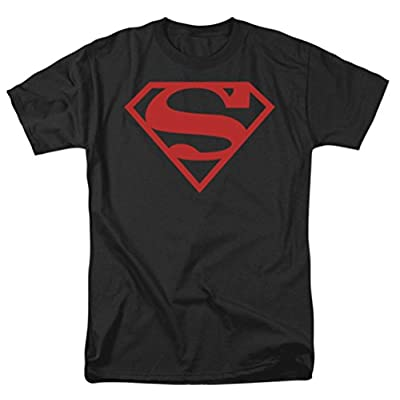 Superman: Red On Black Shield T-Shirt