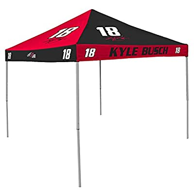 Kyle Busch Nascar 9 X 9 Checkerboard Color Pop-up Tailgate Canopy Tent