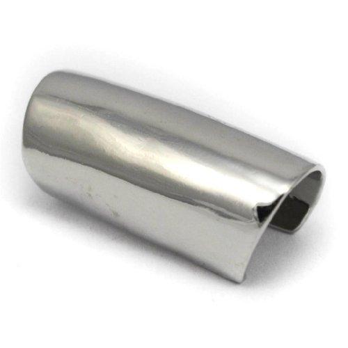 Elixir77UK orecchino avvolgente per elice orecchio,senza bisogno di foro,lungo,color argento e liscio