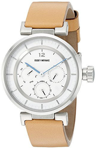 Issey Miyake Mujer silaab03W Mini analógico pantalla Cuarzo Reloj, color marrón