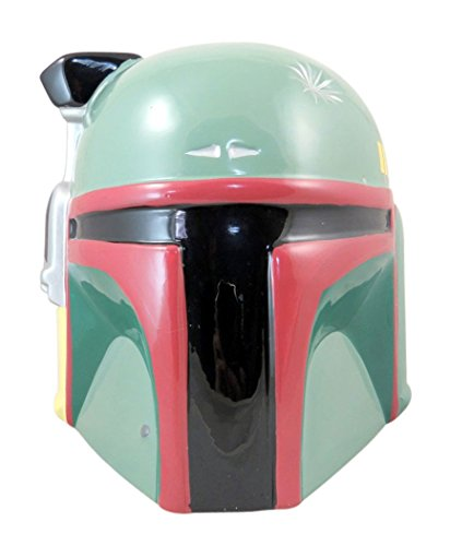 Disney's Star Wars Boba Fett Bounty Hunter Character Head Ceramic Cookie Jar