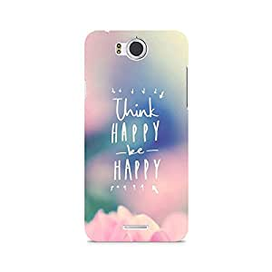 Motivatebox- Be Happy Premium Printed Case For InFocus M530 -Matte Polycarbonate 3D Hard case Mobile Cell Phone Protective BACK CASE COVER. Hard Shockproof Scratch-