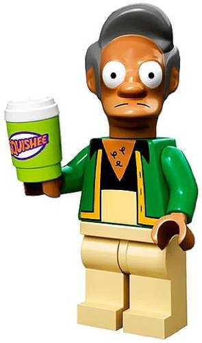 Lego Simpsons Series Collectible Minifigure - Apu Nahasapeemapetilon with Slushee (71005) - 1