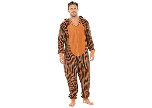 5d5ab68ff4 Mens Gents Boys Fleece Hooded Animal Ears Onesie Zip All In 1 Pyjamas Pjs  Pj s Xmas Gifts Present Size S - XL