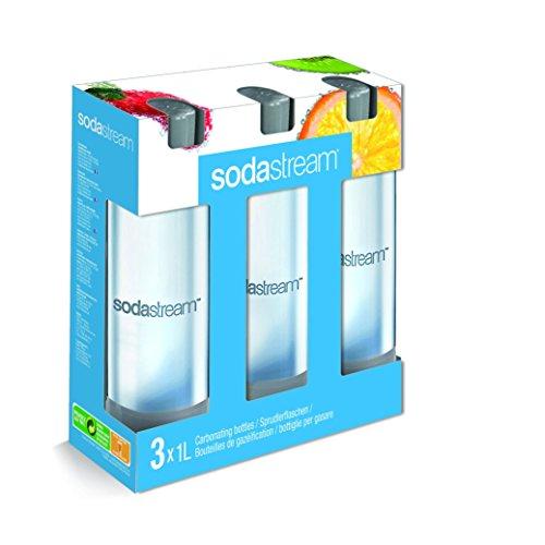 Sodastream 1041342490 Bottiglie per gasare, confezione da 3 x 1 Litro, Colori Assorititi