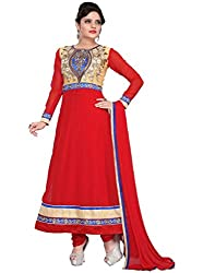 Sajda Glamour Red color Anarkali Suit
