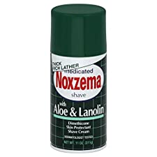 Noxzema Shave Cream, Medicated, with Aloe & Lanolin, 11 oz (311 g)