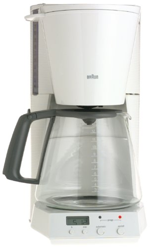 Braun Flavorselect Coffee Maker Manual : Braun 12 Cup Coffee Maker Online Riviews: Braun KF180-WH FlavorSelect 12-Cup Coffeemaker, White