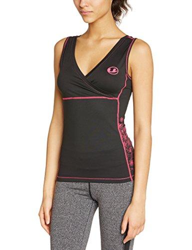 ultrasport-maillot-de-fitness-antibacterien-a-sechage-rapide-noir-noir-rose-l