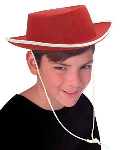 Forum Novelties Costume Accessory Child Size Cowboy Hat, Red - 1