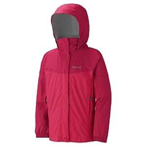 Marmot PreCip Jacket - Girls' Rose Red/Persian Red, M