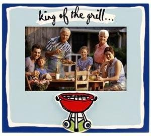 "Malden ""King of the Grill"" 4x6 Photo Frame - 1"
