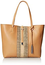 Vince Camuto Leila Blocked Tote,Nude/Nude Snake,One Size