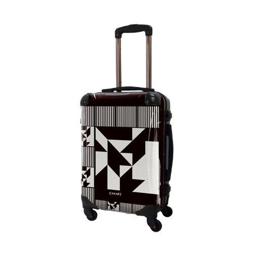 キャラート アートスーツケース ポップニズム ノベル (モノトーン) フレーム4輪 機内持込