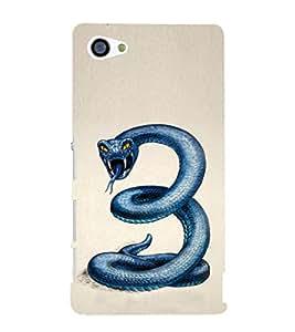 EPICCASE Blue Viper Mobile Back Case Cover For Sony Xperia Z5 Mini / Z5 Compact (Designer Case)