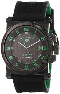 "Swiss Legend Men's 40030-BB-01-GRA ""Sportiva"" Analog Display Swiss Quartz Black Casual Watch"