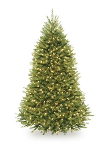 National Tree 7 1/2' Dunhill Fir Tree, Hinged, 750 Clear Lights (DUH-75LO)
