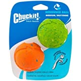 Chuckit! Dog Fetch RECYCLED RUBBER REBOUNCE BALL Medium 2 Pack