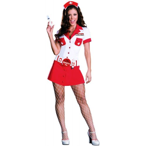 Nurse Anita Shot Costume - Small - Dress Size 2-6