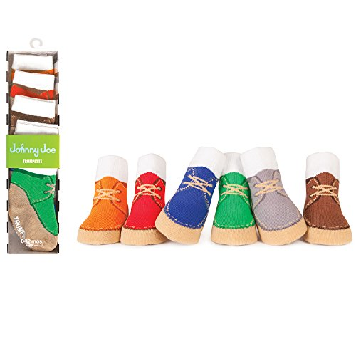 Boys Baby 6 Pack of Johnny Joe High-Top Desert Boot Socks by Trumpette