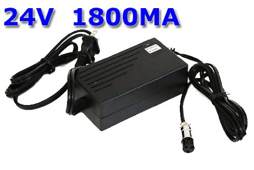 New 24V 1.8A 24 Volt 1.8 Amp Electric Bike Scooter Battery Charger Replacement With 3 Prong Inline Female Connector For Boreem Jia 601-S / Boreem Jia 602-D (250 watt version)