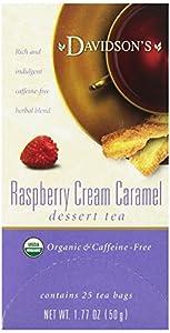 Davidson's Tea Raspberry Cream Caramel, 25-Count Tea Bags (Pack of 6)