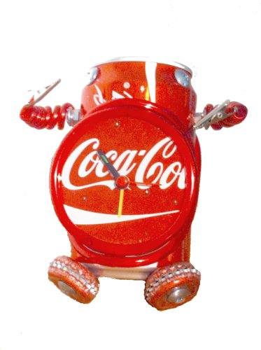Coke Can Robot Clock - Recycled Coca Cola can robot alarm clock with picture holders (Coke Can Holder compare prices)