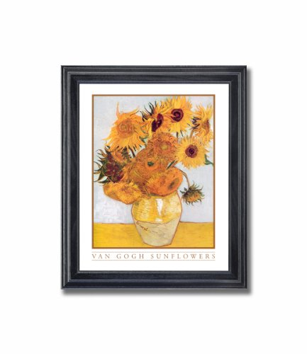 Vincent Van Gogh Sunflowers Floral Picture Framed Art Print Picture
