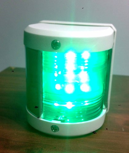 Marine Boat Green Starboard Side Led Navigation Light Waterproof Boats Up To 12M