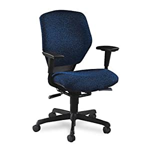 ~:~ HON COMPANY ~:~ Resolution 6200 Series Low-Back Swivel/Tilt Chair, Navy Blue Fabric