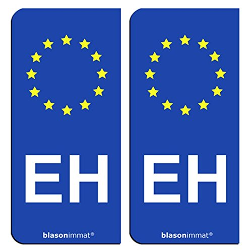 2-Stickers-plaque-dimmatriculation-auto-EH-Pays-Basque-Identifiant-Europen